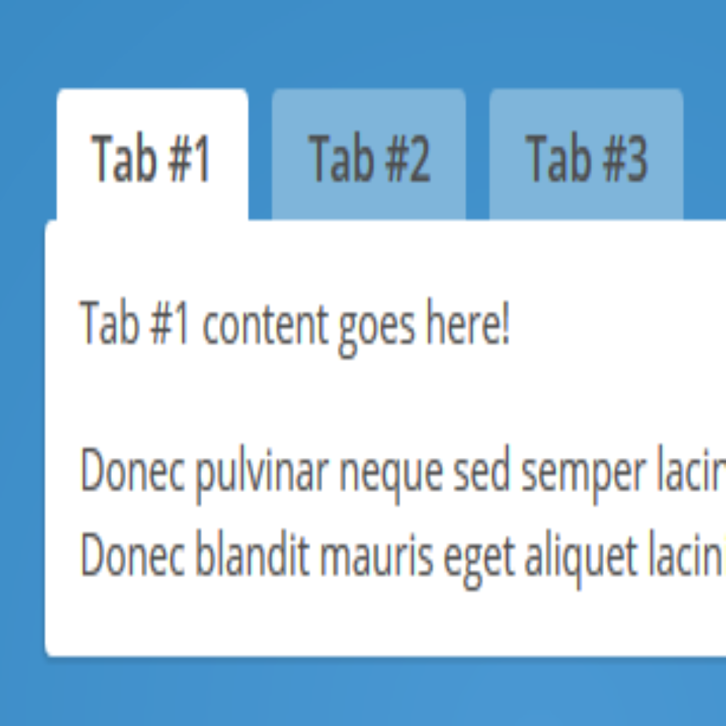 Creating Tabs with HTML, CSS & jQuery – Inspirational Pixels