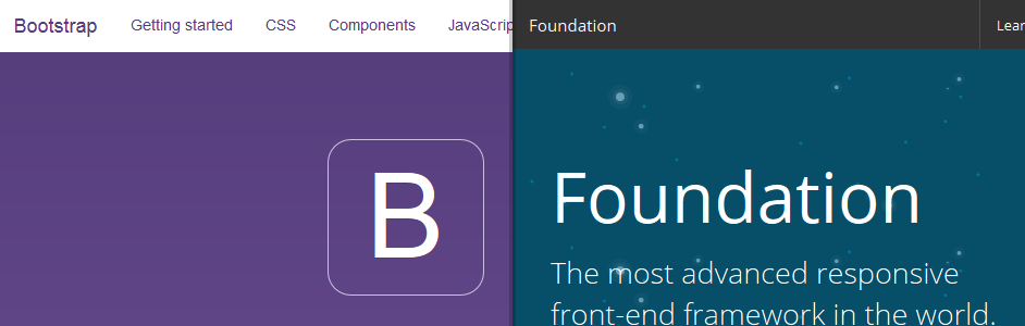 Bootstrap and Foundation sites