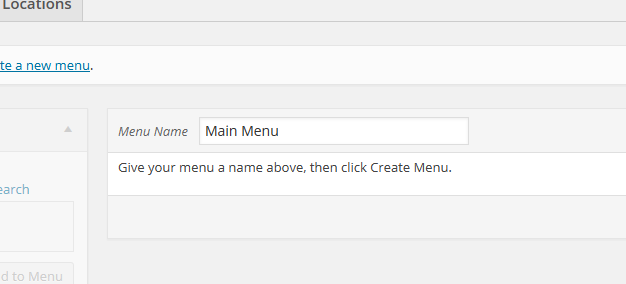 create-wp-menu