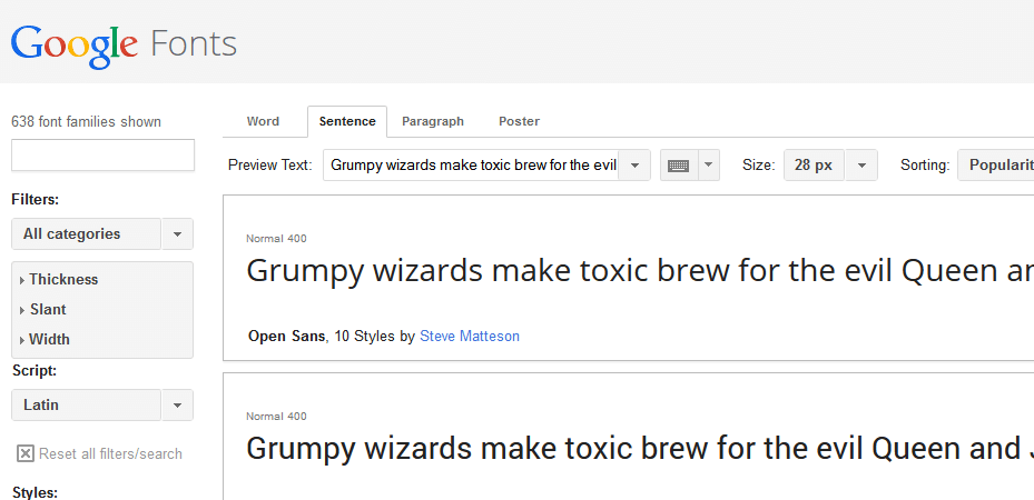 google-web-fonts-example