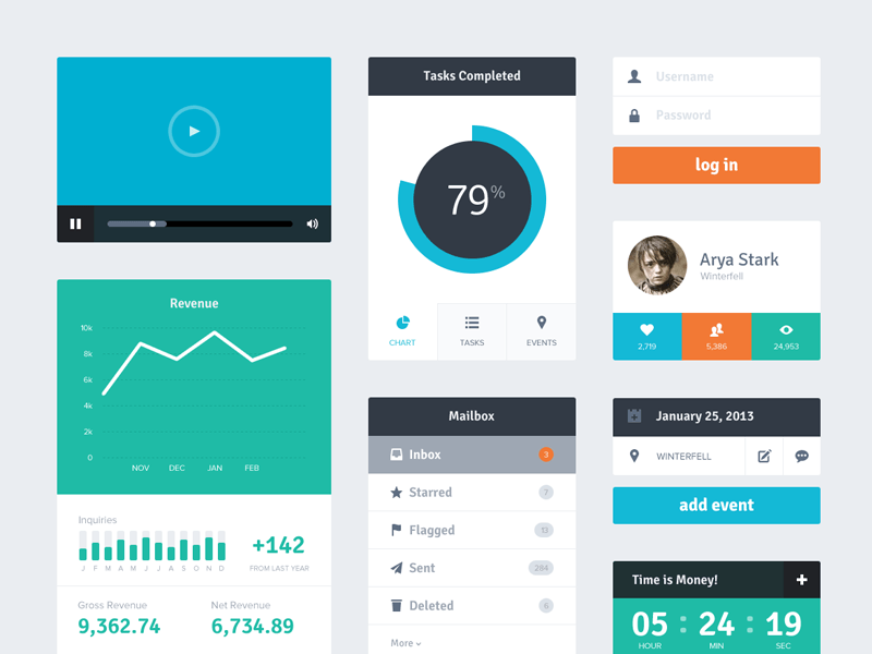 Designer Spotlight: Flat UI Kit by Riki Tanone