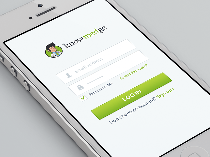 Designer Spotlight: Knowmedge Mobile Login by Riki Tanone