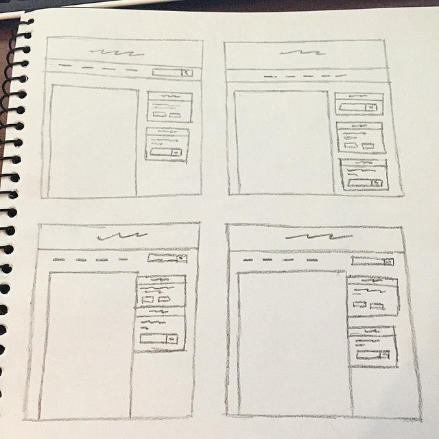 Sketches of different layouts