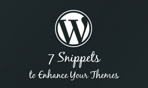 7 WordPress Snippets to Enhance Your Themes