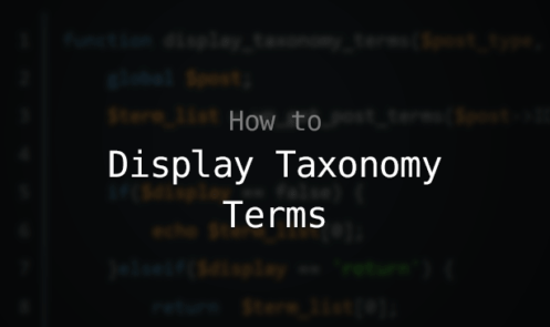 Display Custom Taxonomy Terms in WordPress