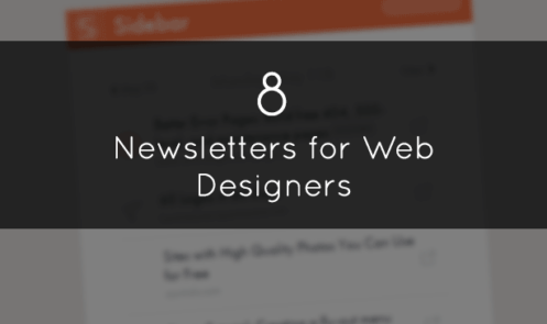 8 Fantastic Newsletters for Web Designers
