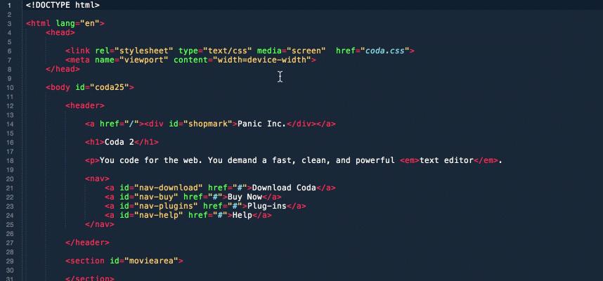 Write code to make a website with Coda