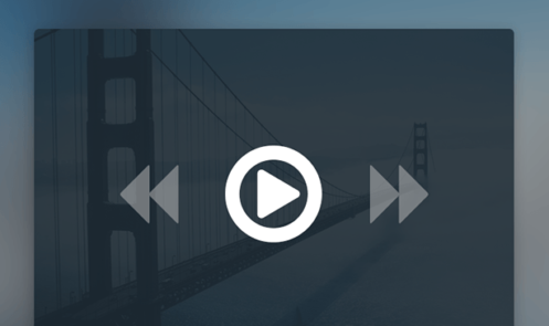 Minimal Video Player UI