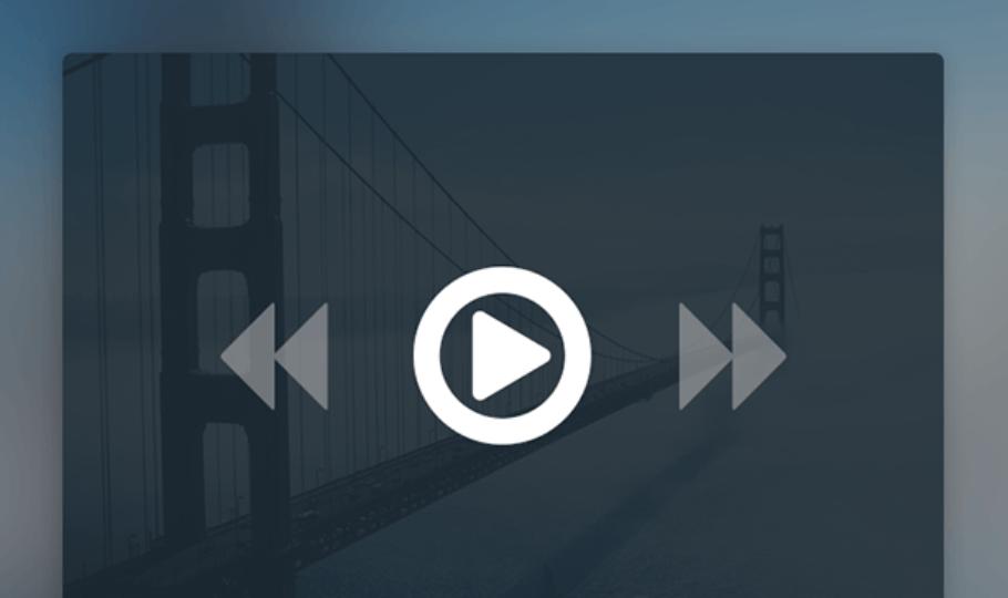 Minimal Video Player UI