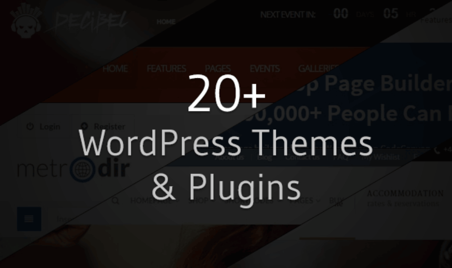 20+ Best WordPress Themes and Plugins