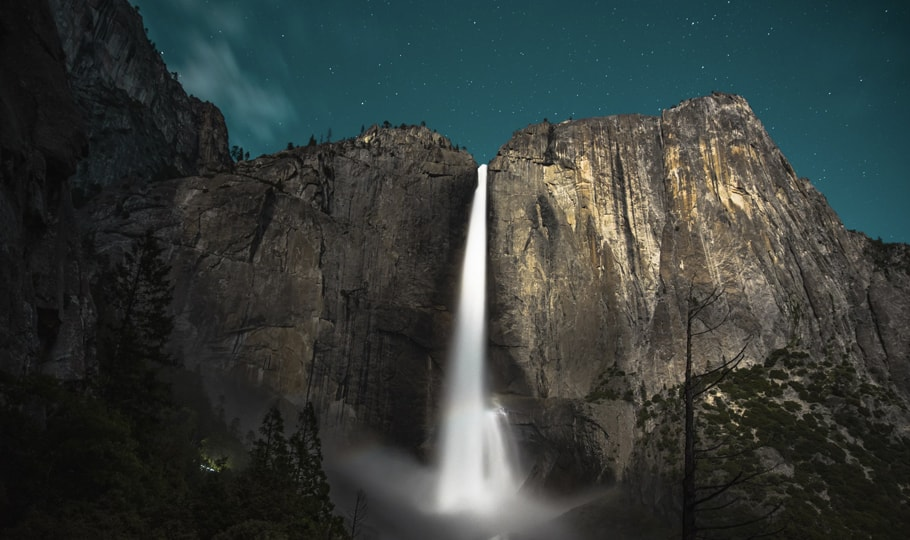 Fantasy-style waterfall wallpapers