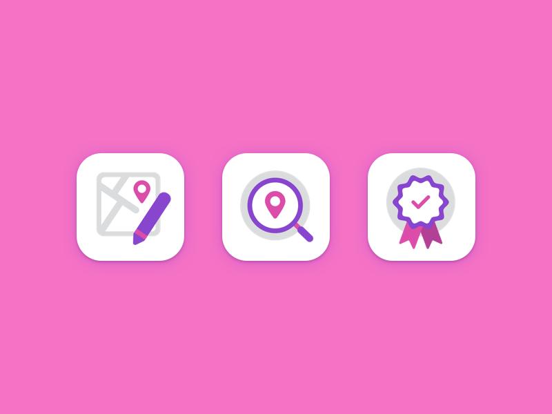 Minimal coluorful icons