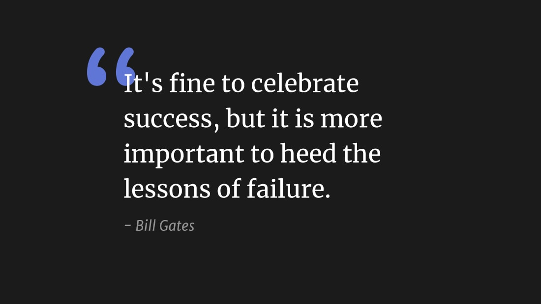 """It's fine to celebrate success, but it's more important to heed the lessons of failure"" wallpaper"